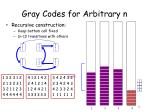 gray codes for arbitrary n