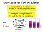 gray codes for rank modulation