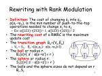 rewriting with rank modulation1