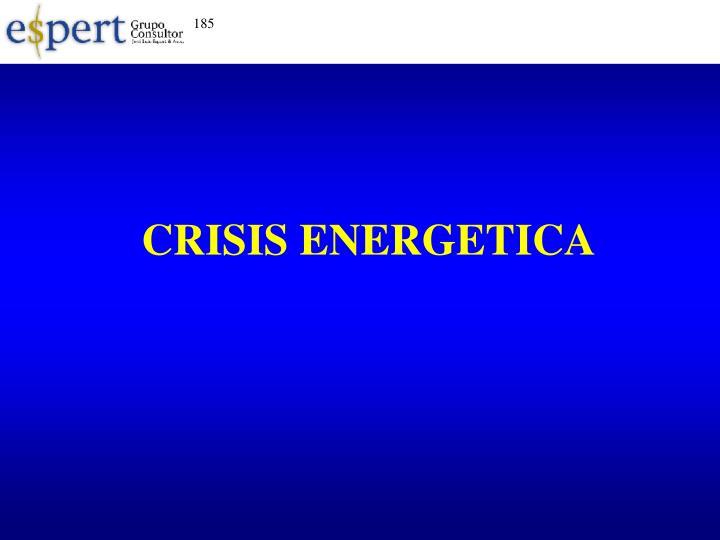 CRISIS ENERGETICA