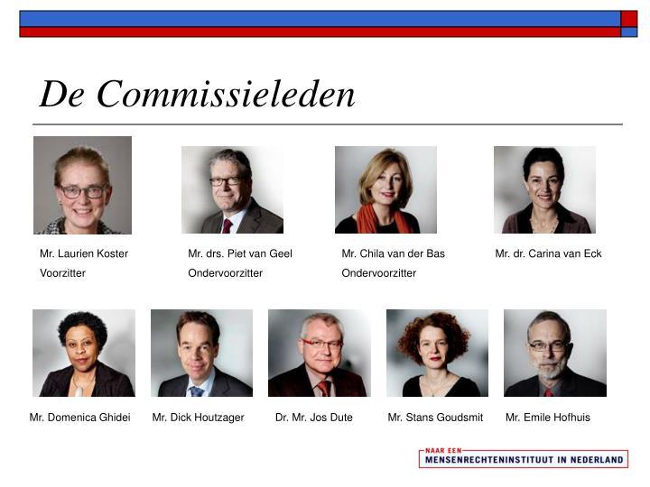 De Commissieleden
