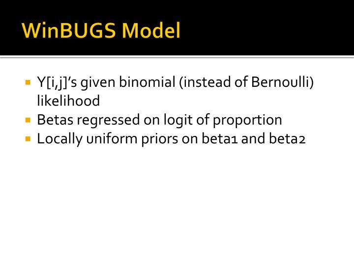 WinBUGS Model
