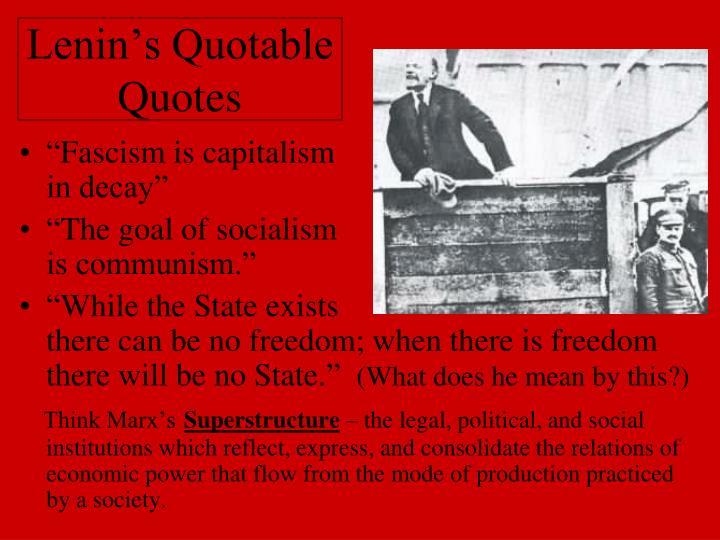 Lenin's Quotable Quotes