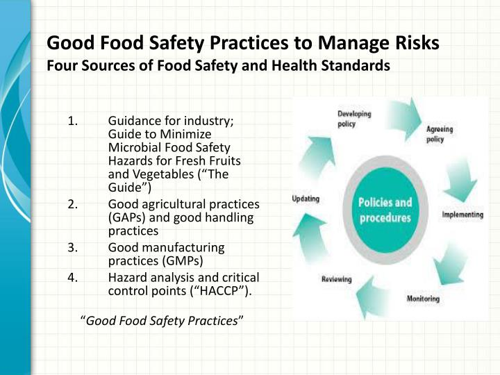 Good Food Safety Practices to Manage Risks
