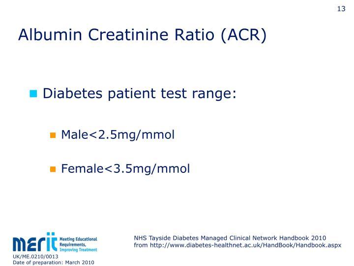Albumin Creatinine Ratio (ACR)