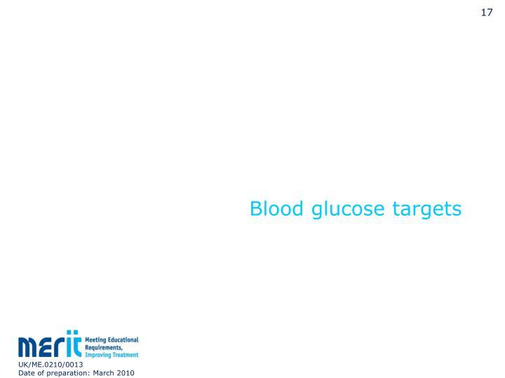 Blood glucose targets