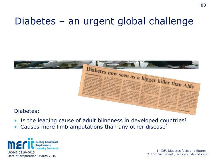 Diabetes – an urgent global challenge
