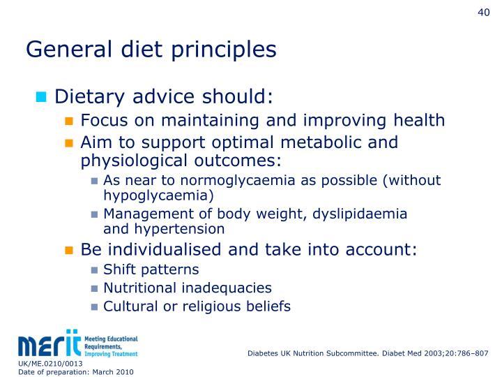 General diet principles