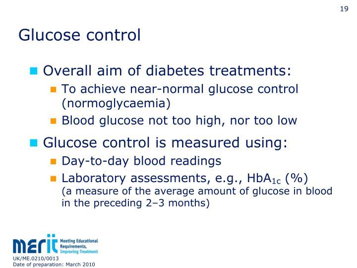 Glucose control