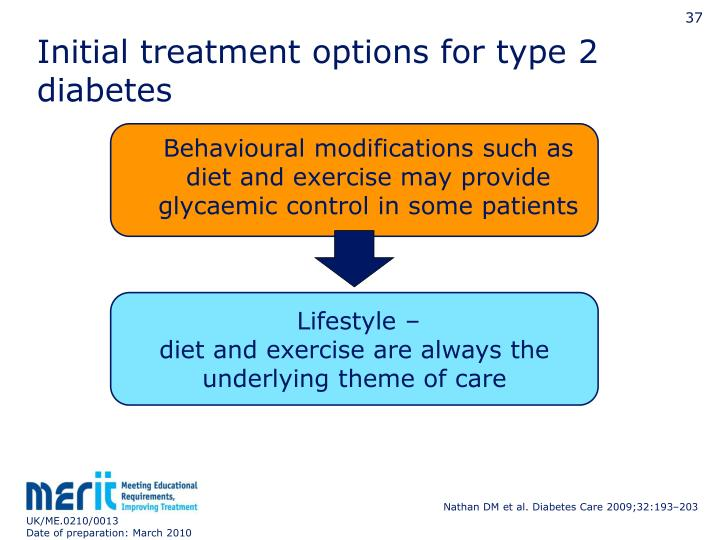 Initial treatment options for type 2 diabetes