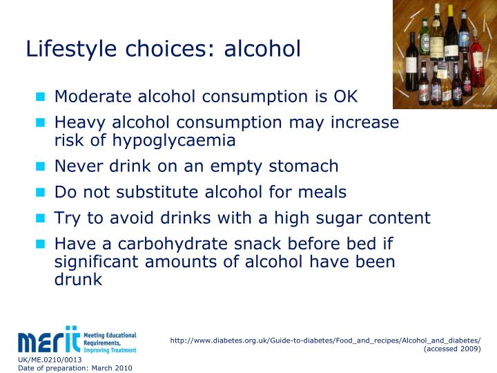 Lifestyle choices: alcohol