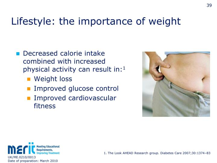 Lifestyle: the importance of weight