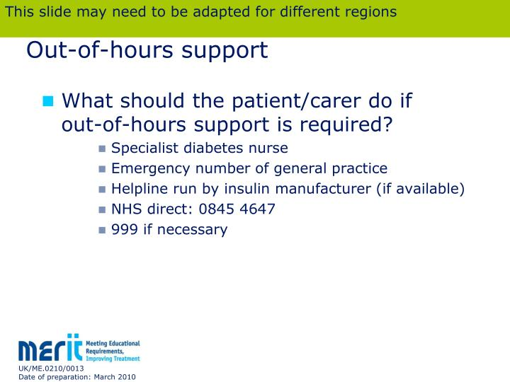 Out-of-hours support