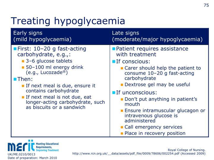 Treating hypoglycaemia