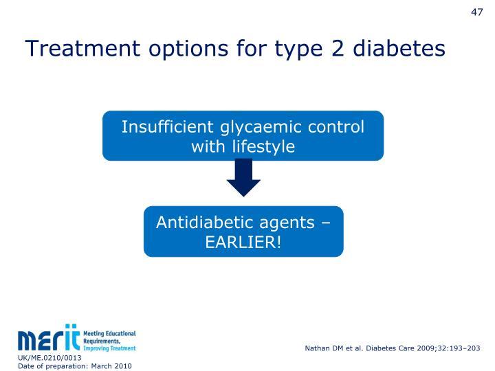 Treatment options for type 2 diabetes