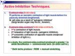 active inhibition techniques