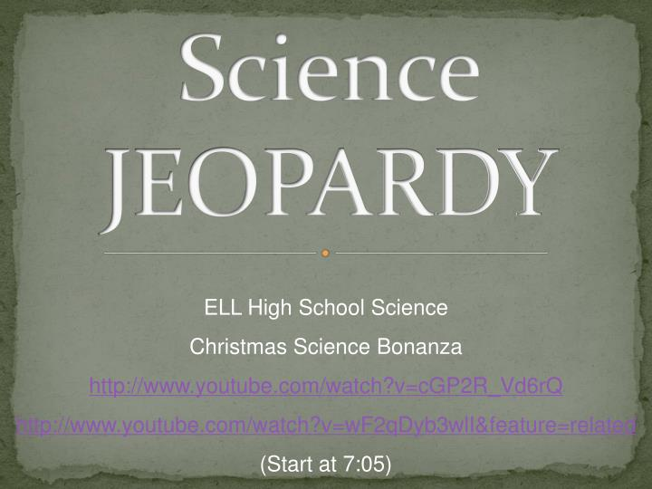 science jeopardy n.