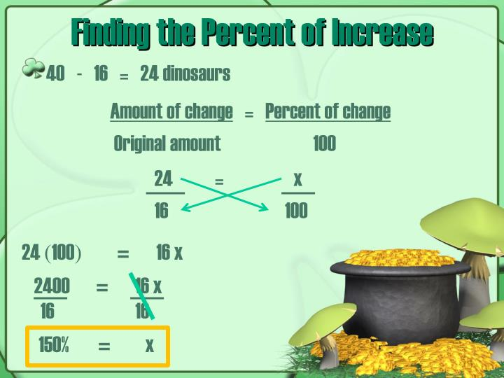Finding the Percent of Increase