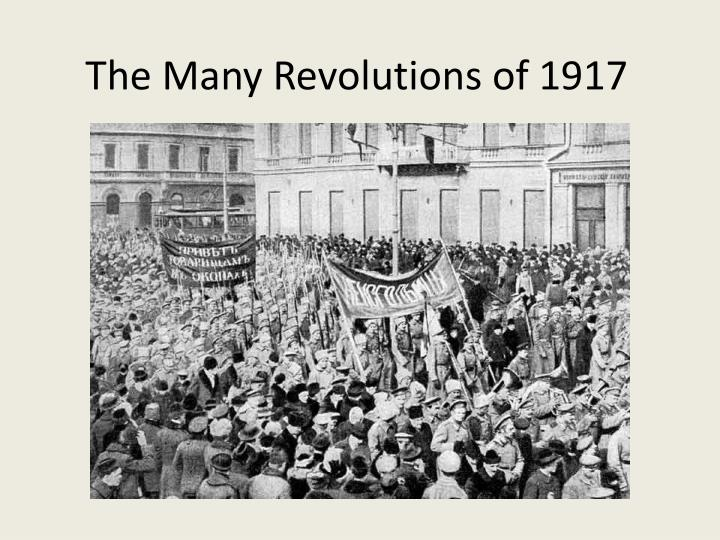 the many revolutions of 1917 n.