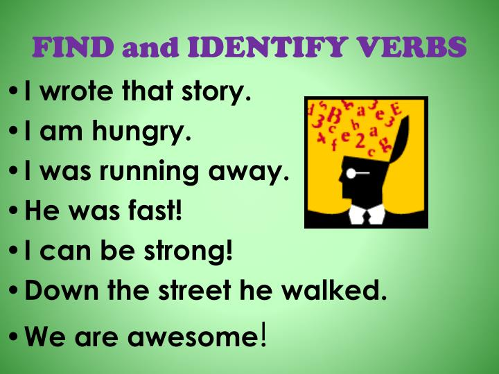 FIND and IDENTIFY VERBS