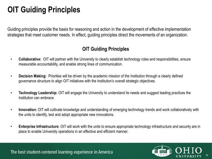 OIT Guiding Principles