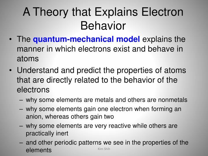 A Theory that Explains Electron Behavior