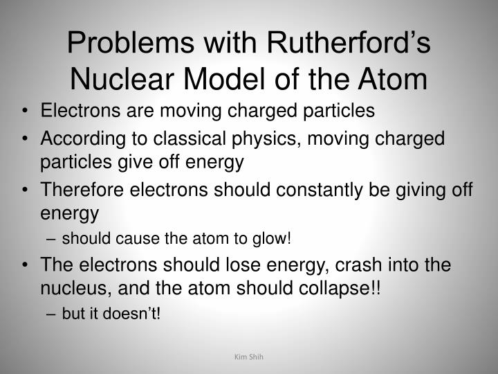 Problems with Rutherford's Nuclear Model of the Atom