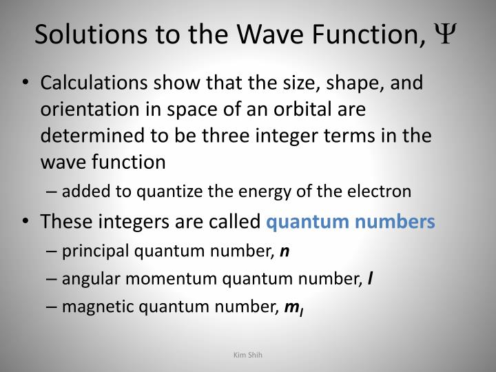 Solutions to the Wave Function,