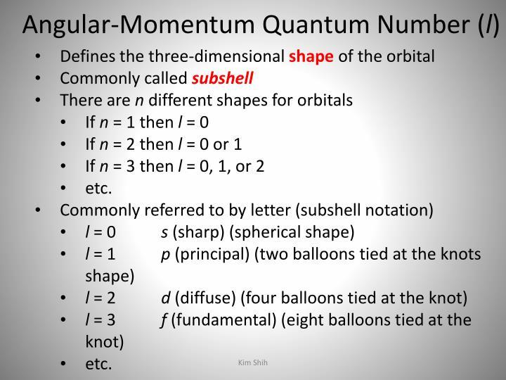 Angular-Momentum Quantum Number (