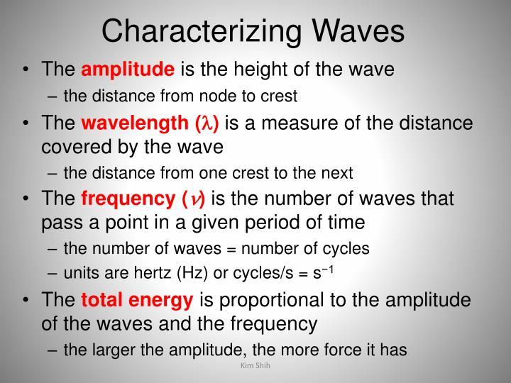 Characterizing Waves
