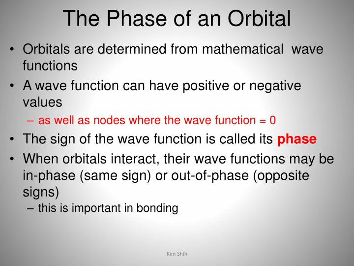 The Phase of an Orbital