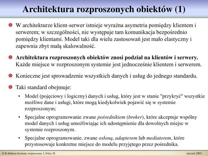 Architektura rozproszonych obiektów (1)