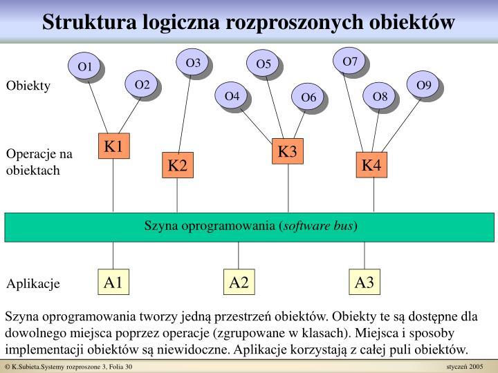 Struktura logiczna rozproszonych obiektów