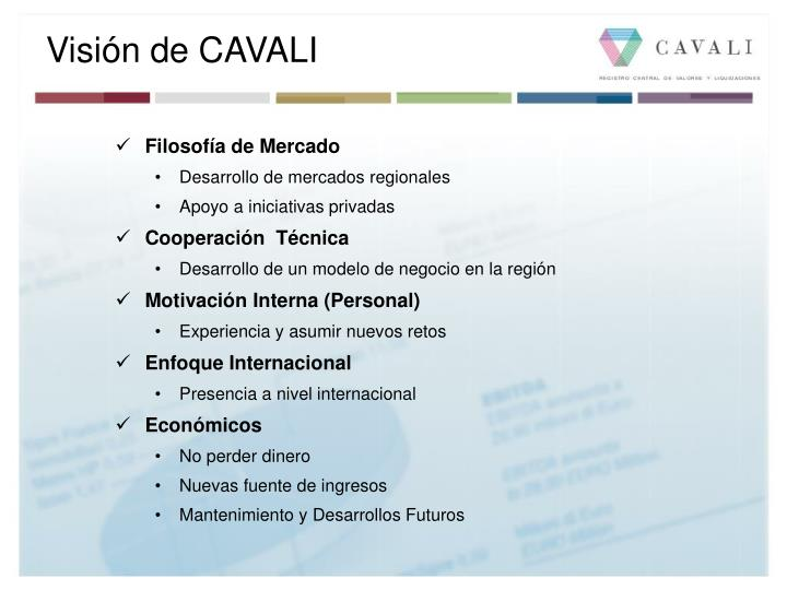 Visión de CAVALI