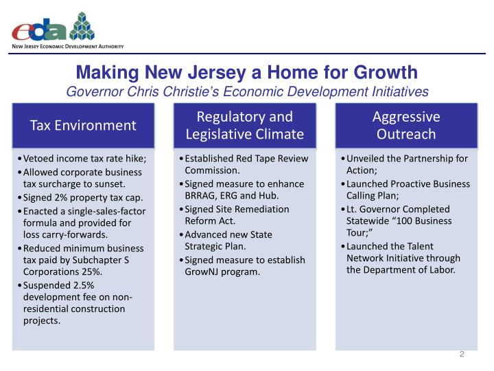 Making New Jersey a Home for Growth