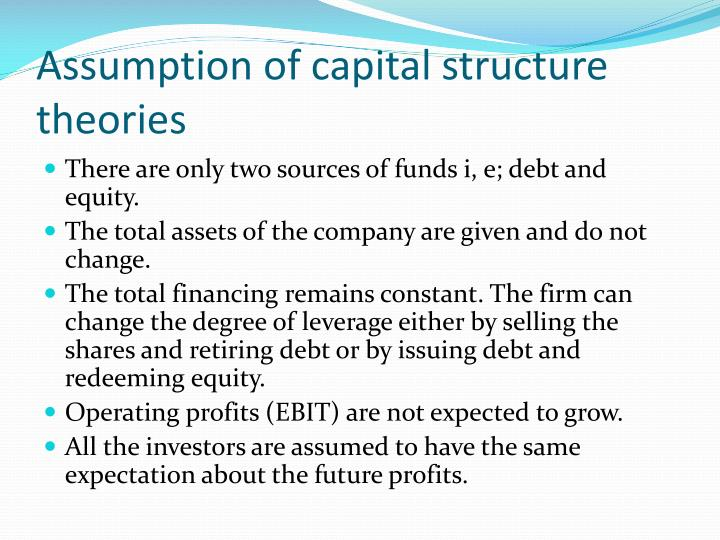 mm theory and jm theory of capital structure essay