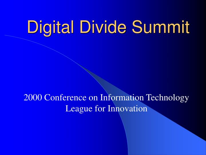 digital divide summit n.
