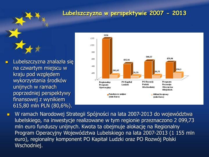 Lubelszczyzna w perspektywie 2007 2013