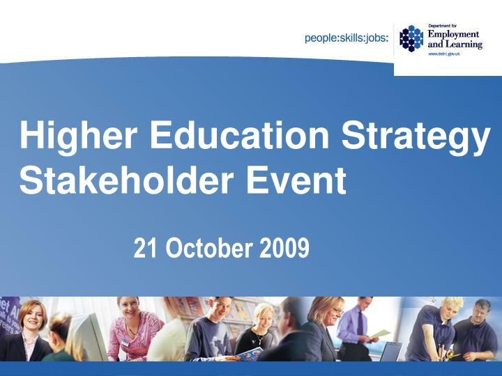 higher education strategy stakeholder event n.