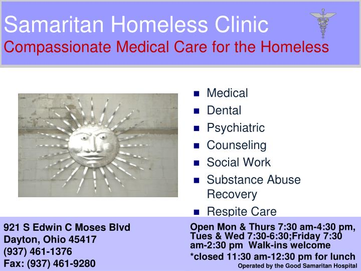 samaritan homeless clinic compassionate medical care for the homeless n.