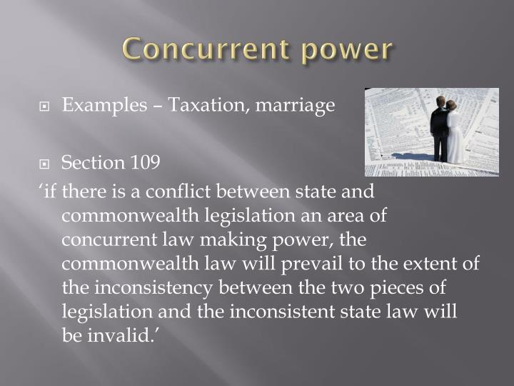 Concurrent power