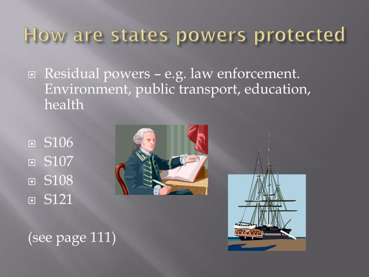 How are states powers protected