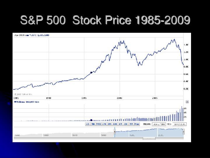 S&P 500  Stock Price 1985-2009