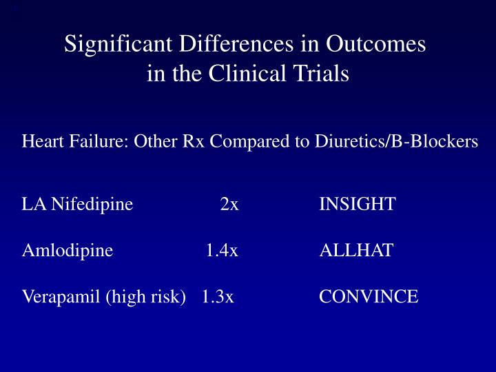 Significant Differences in Outcomes