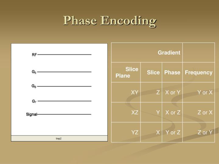 Phase Encoding