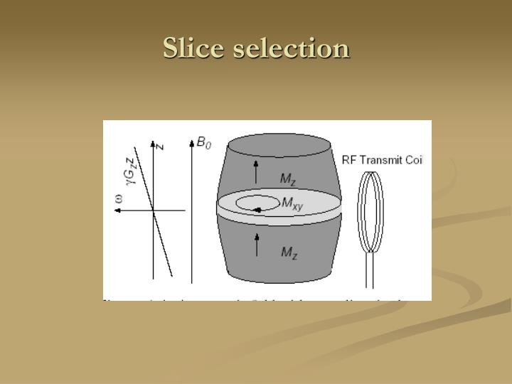 Slice selection
