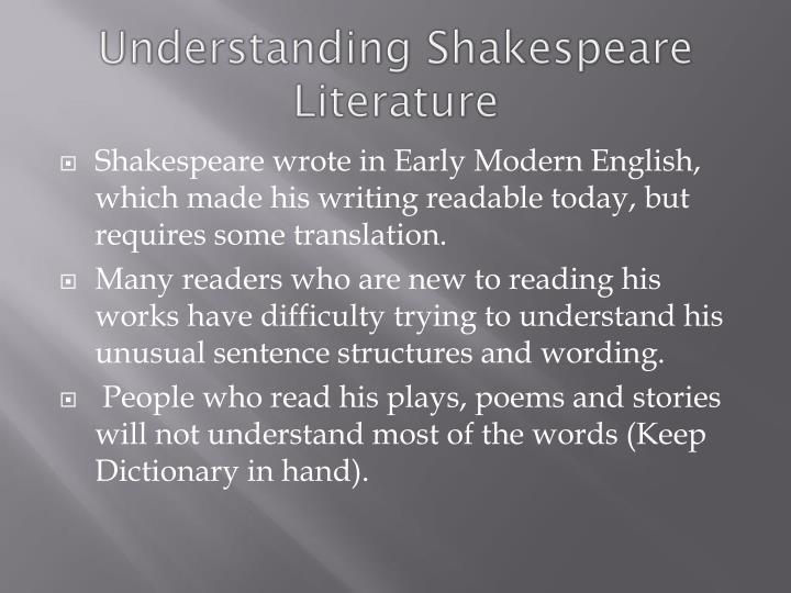 Understanding Shakespeare Literature