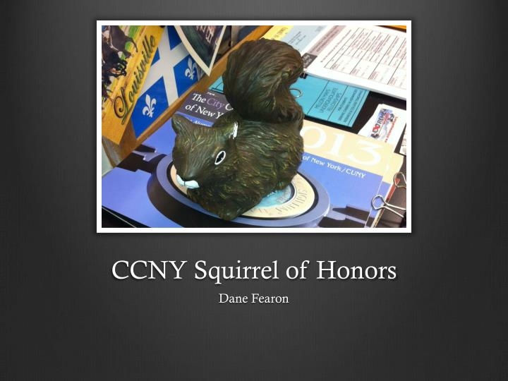 CCNY Squirrel of Honors