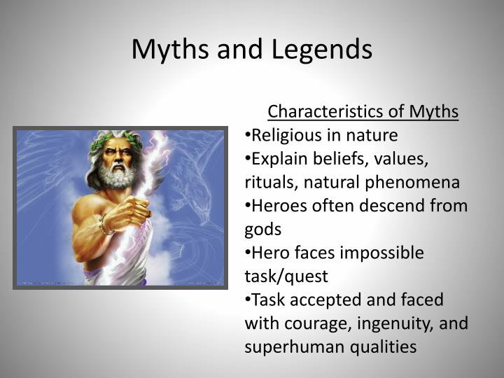 myths and legends n.
