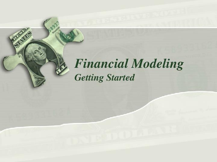 financial modeling n.
